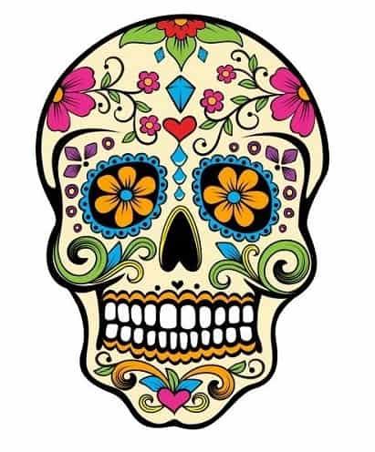 calaveras mexicanas para pintar