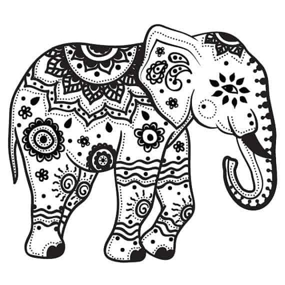 Elefante sencillo para colorear