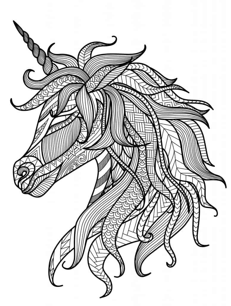 unicornios para colorear e imprimir