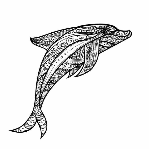 Delfin para colorear