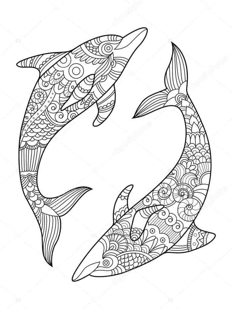 Delfines para imprimir