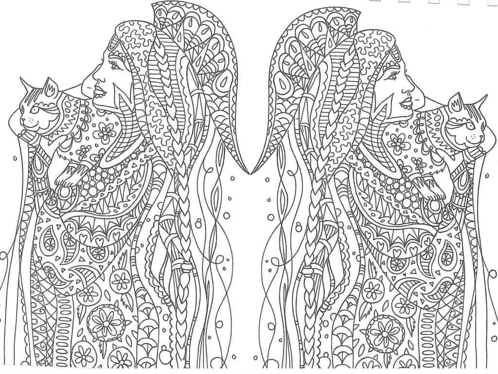 Imagen de Mandala de princesas para pintar