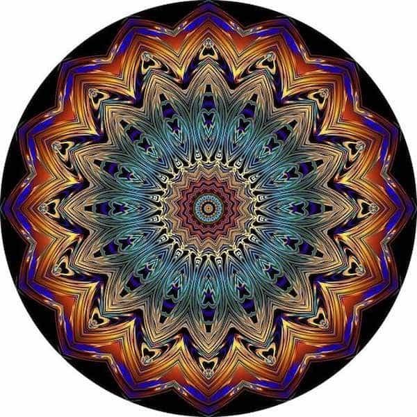 Mandala geométrico en color para mindfulness