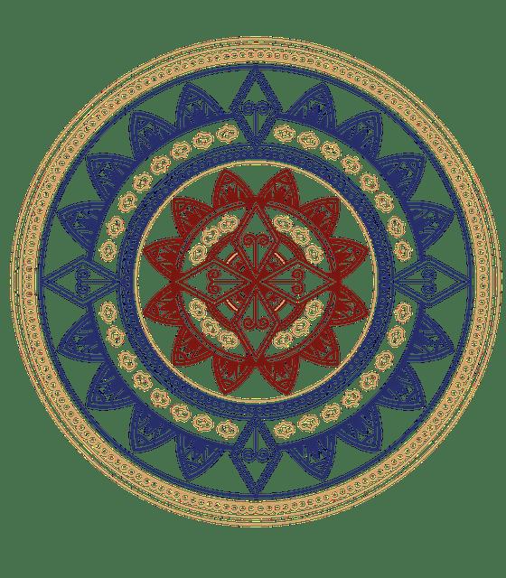 Mandala simple coloreada