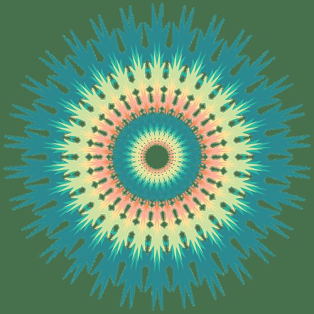 Mandala con destellos