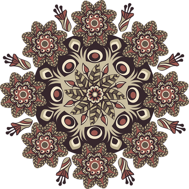 mandalas coloreadas de flores