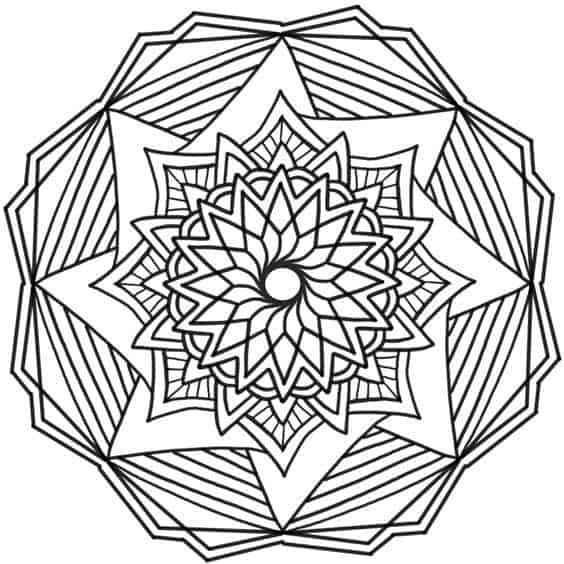 Mandala de flor infantil para dibujar