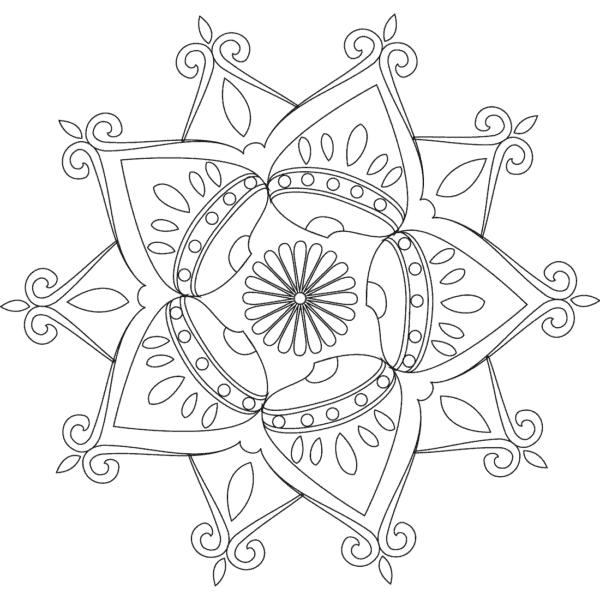 Imagen de flor infantil para dibujar