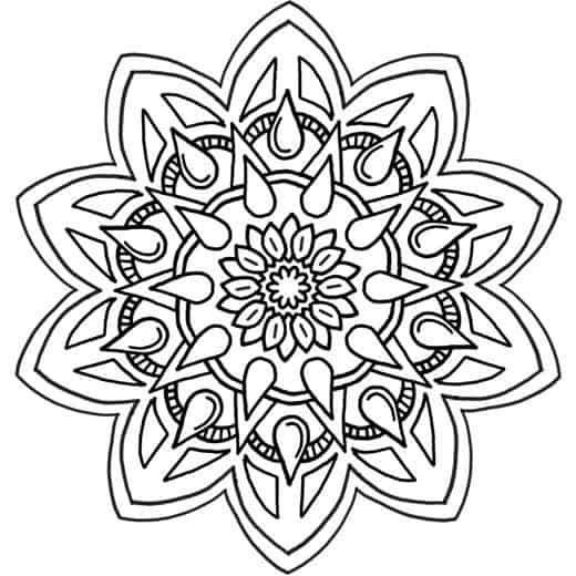 Flor infantil para dibujar