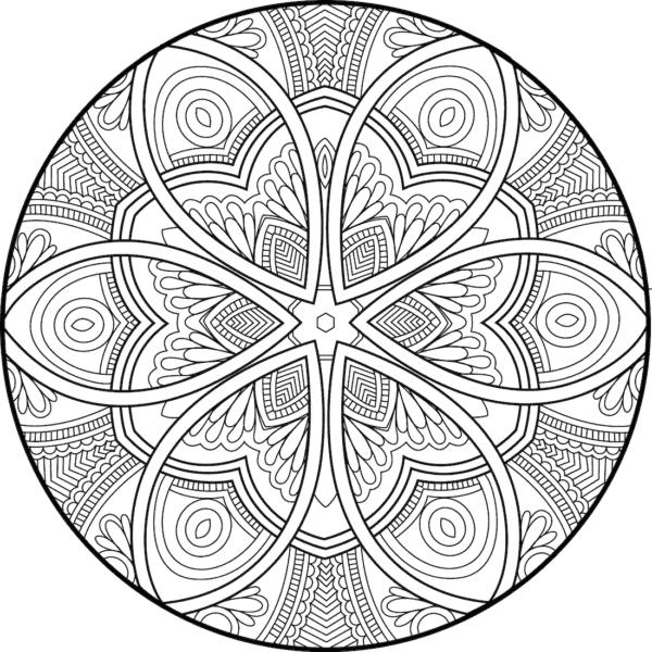 Mandala de flores geométricas