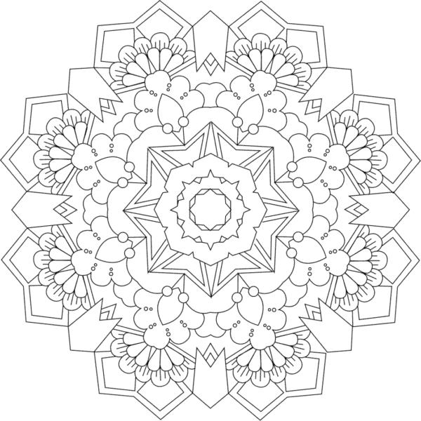 Flores simples y geométricas