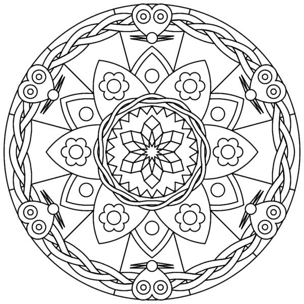 Mandala geométrico para pintar