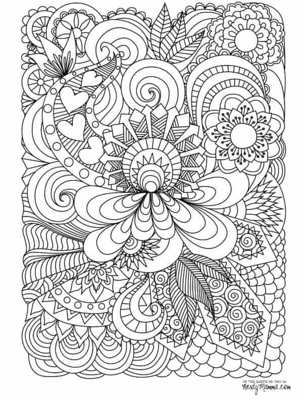 Mandala de flor difícil para descargar