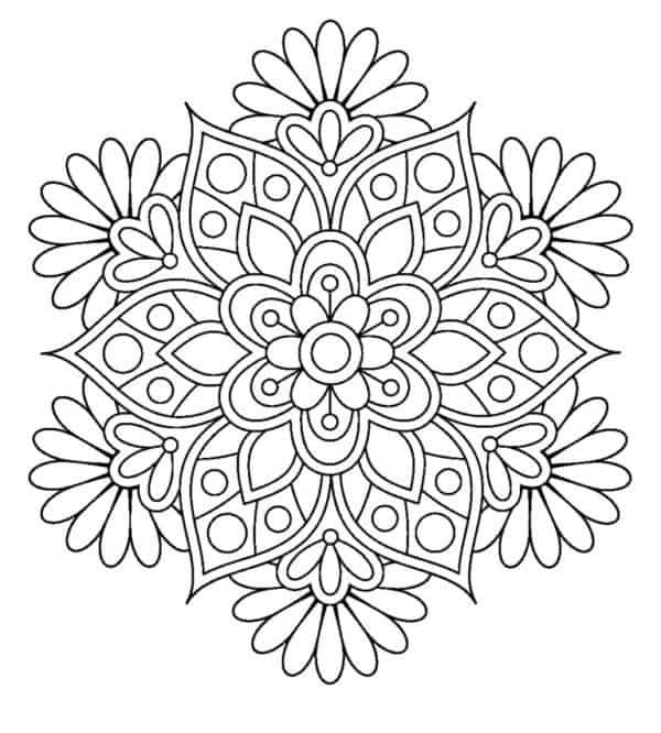 80 Mandalas De Flores Para Colorear Y Dibujar 2019