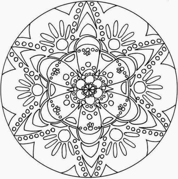 Mandala gratis de flores