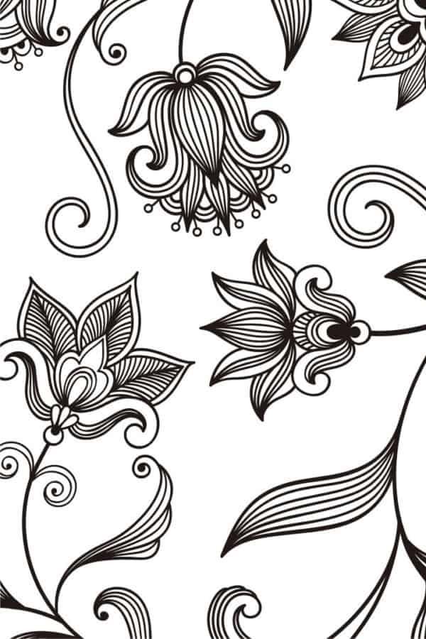 Dibujos de flores en pdf