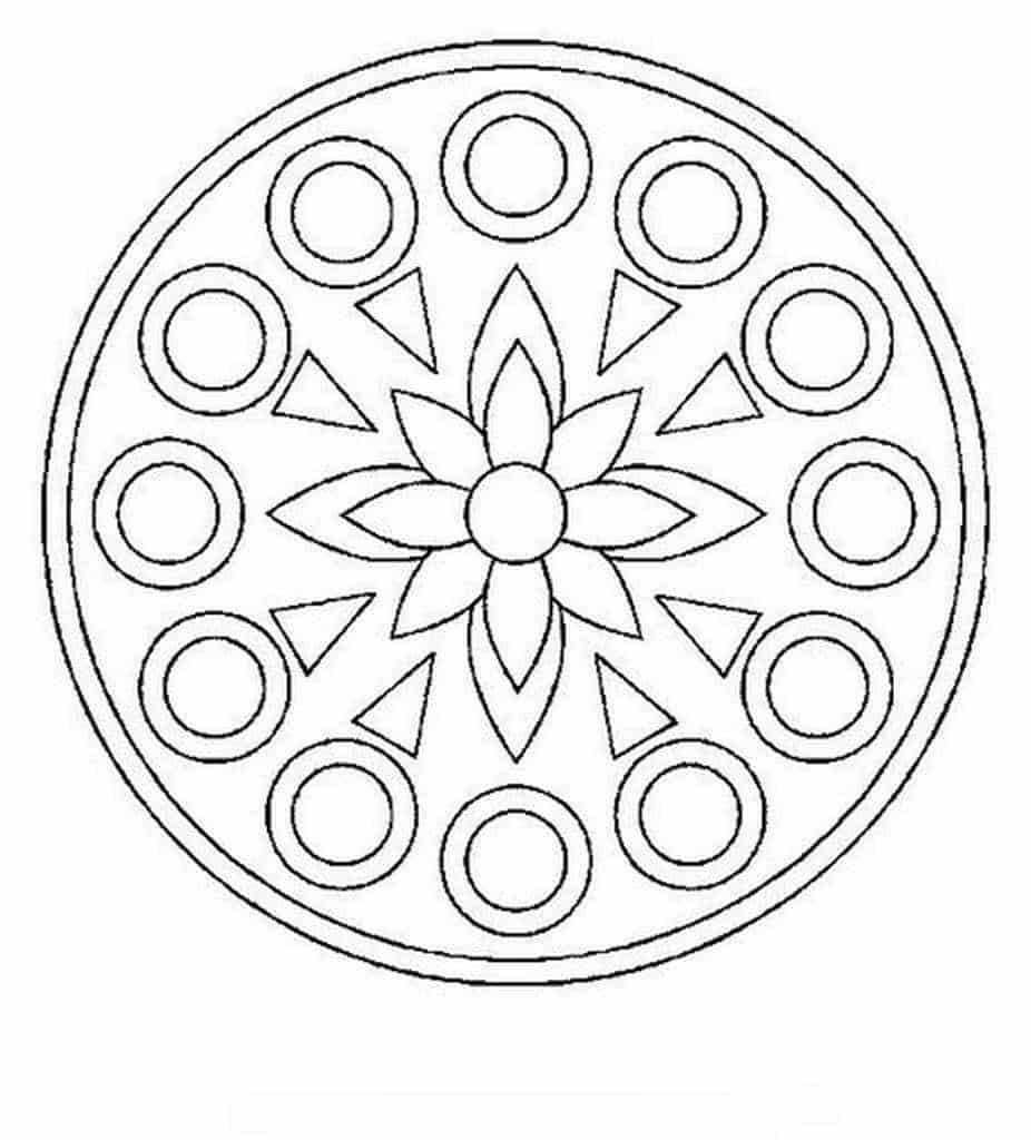 Imagen de mandala de flor simple