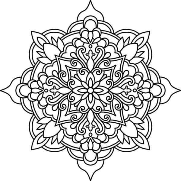 Mandala budista con flores