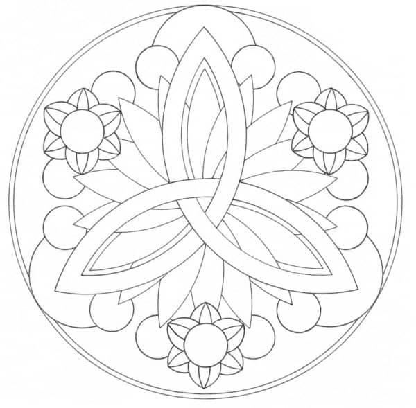 Imagen geométrica de flores