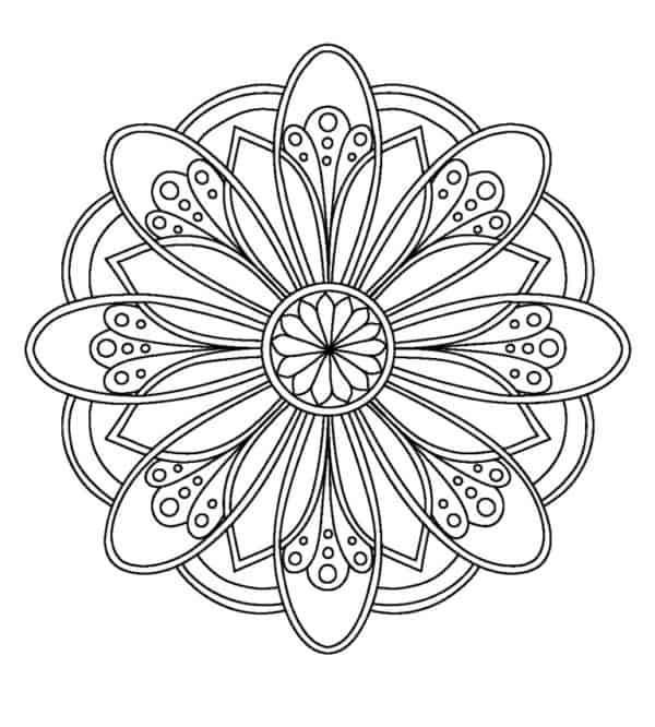 Flor para colorear e imprimir