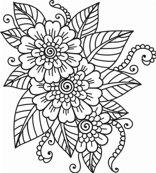 flores para pintar niños
