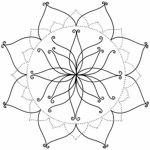 imagenes de mandalas de flores para colorear