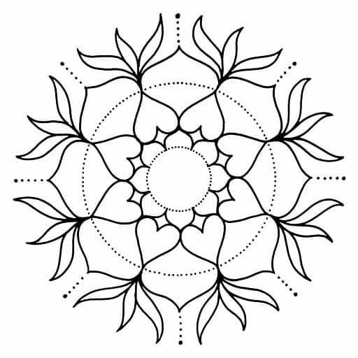 mandalas de flor para colorear