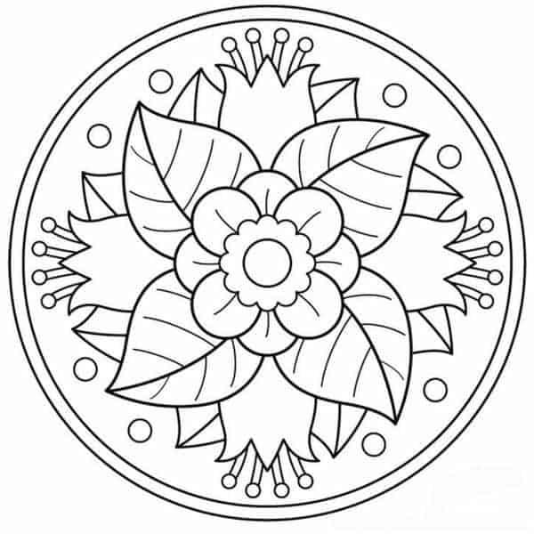 mandala de flores para colorear