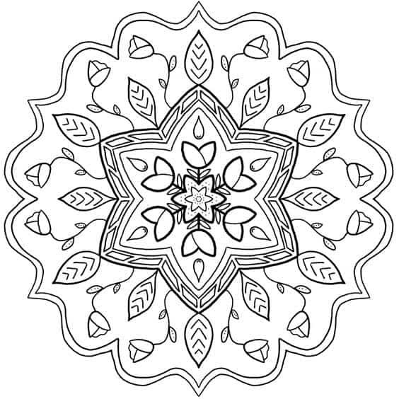 mandalas para pintar de flores