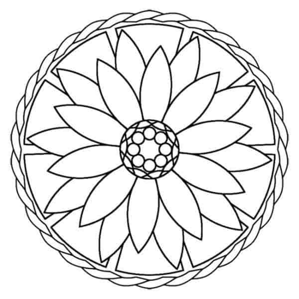 flores faciles para pintar
