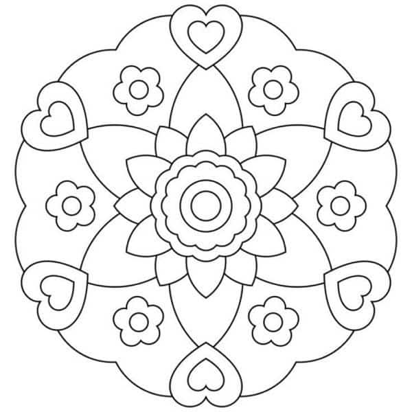 mandalas de flores faciles