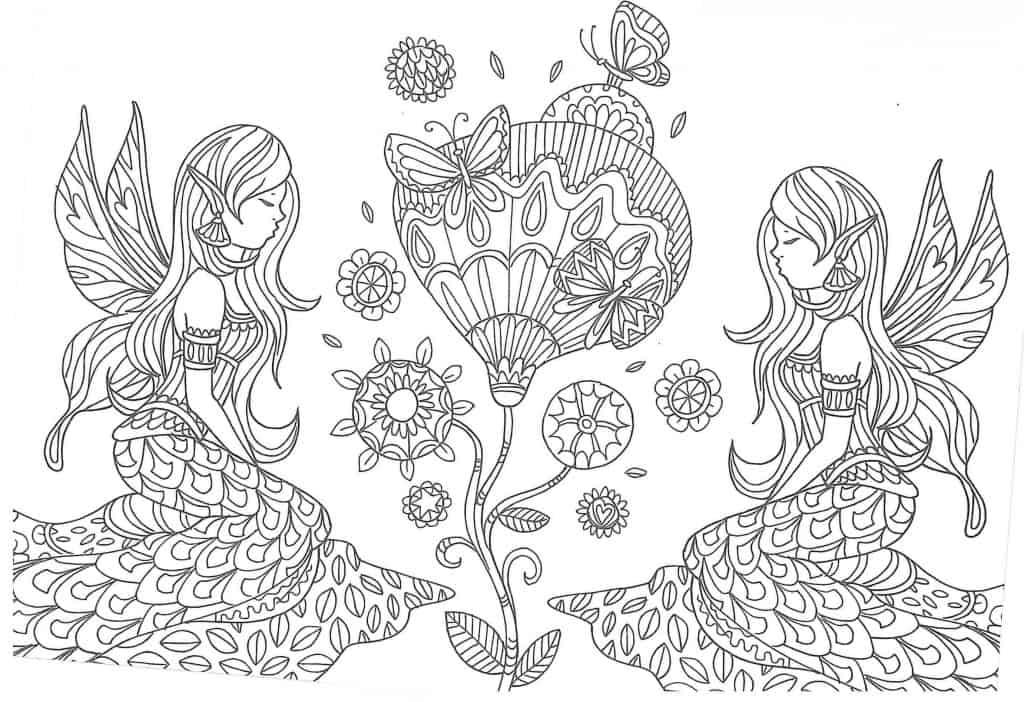 flor para colorear infantil