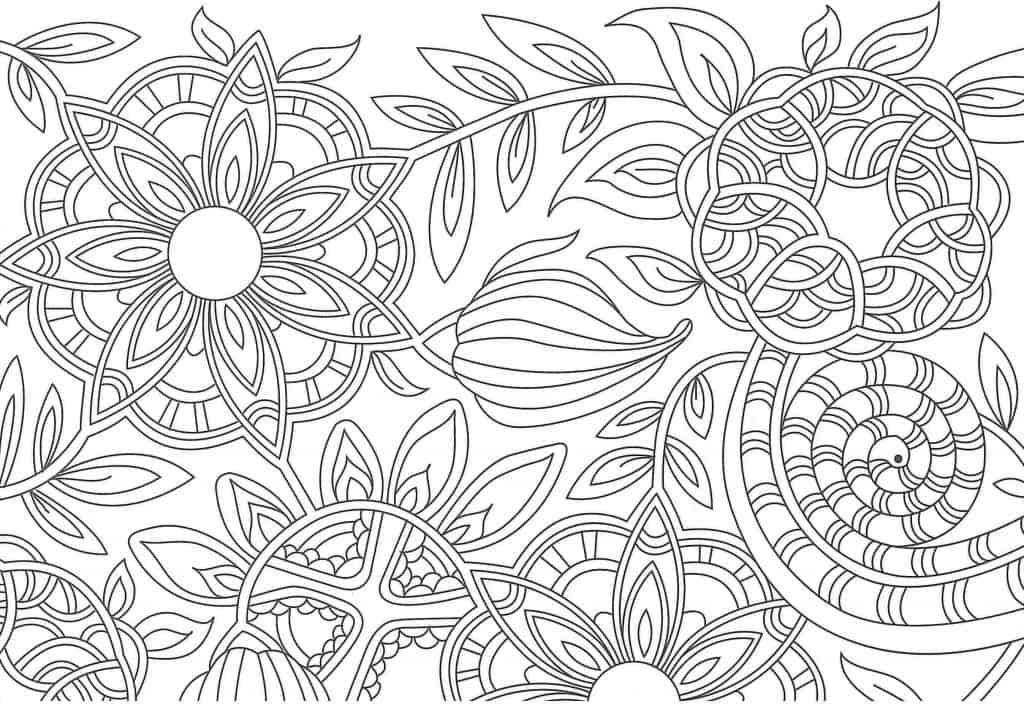 mandalas complicadas para colorear