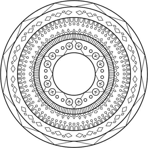 dibujos faciles de mandalas
