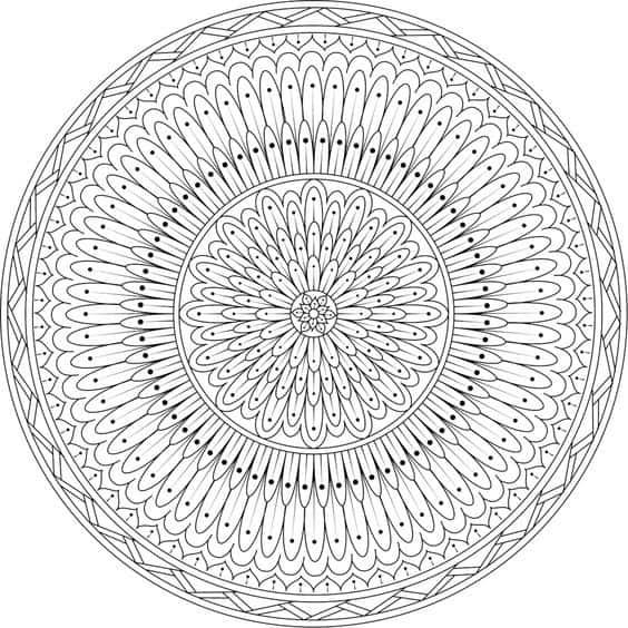 mandalas geometricas paso a paso