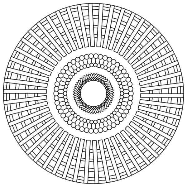 mandalas geometricas sencillas