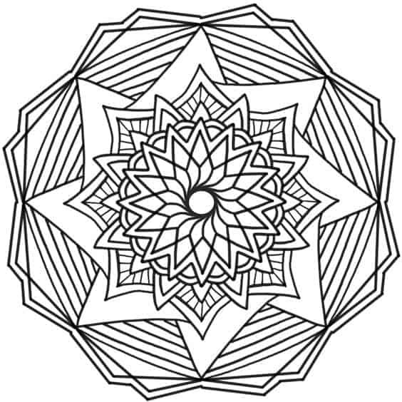 dibujo mandala geometrica