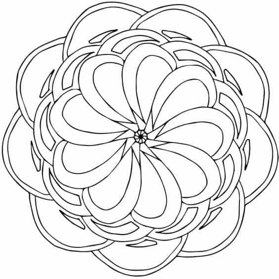 mandala geometrica para imprimir