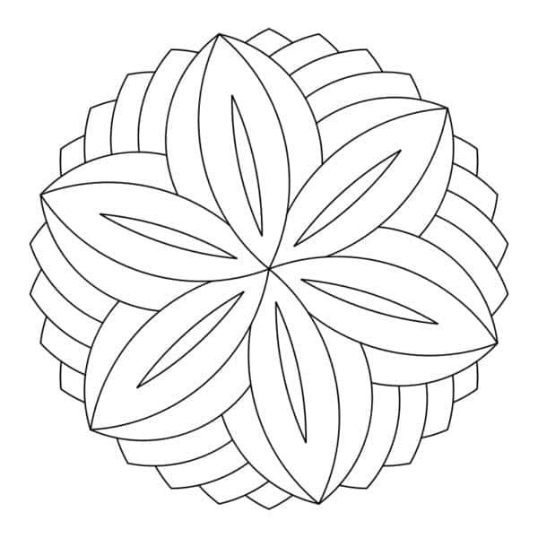 dibujo de mandala geometrico para imprimir