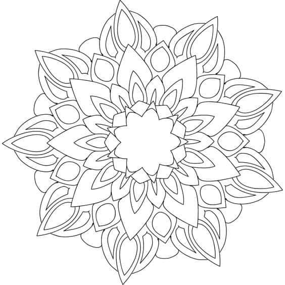 mandala geometrico para imprimir