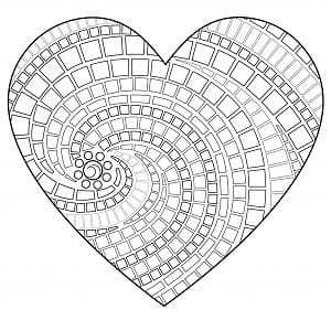 mandala de corazones para colorear